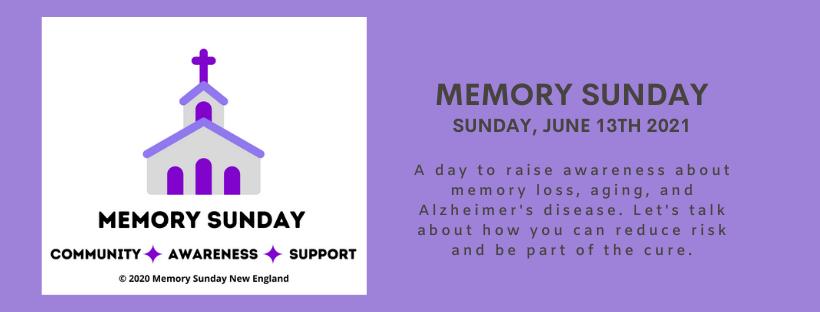 Memory Sunday Web Banner - June 13th 2021